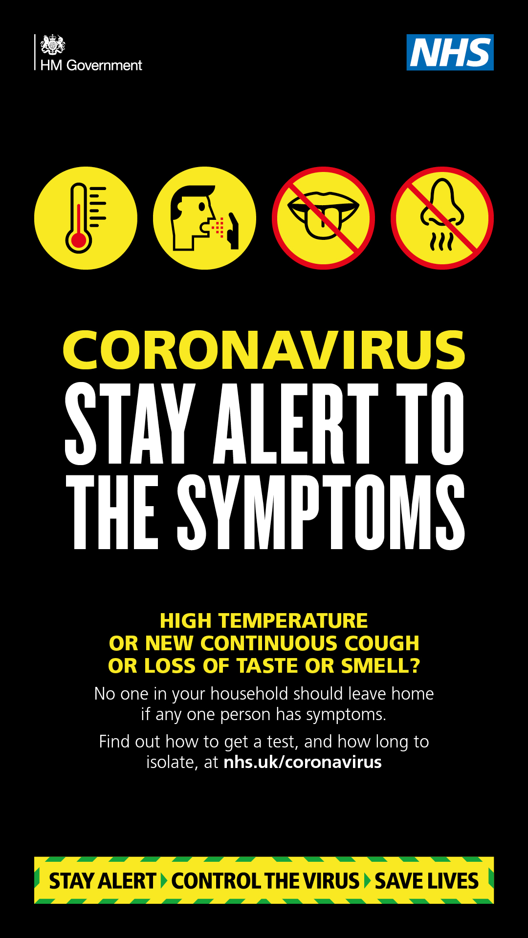 Coronavirus Updated Symptoms, High Temperature, New Continuous Cough or Loss of Taste or Smell