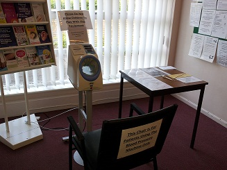 Self-Testing Blood Pressure Machine in Reception